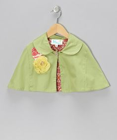 Take a look at this Bright Yellow Megan Cape - Infant, Toddler & Girls by Moxie & Mabel on #zulily today!