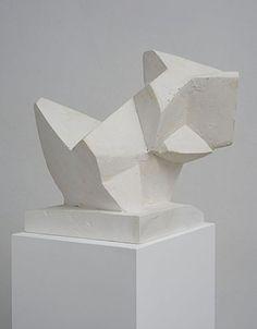 Florian Baudrexel Criver, 2013 Plaster cast and reworked, wooden plinth sculpture: 36 x 39 x 40 cm, plinth: 120 x 33 x 27 cm