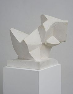 Florian Baudrexel Criver, 2013 Plaster cast and reworked, wooden plinth sculpture: 36 x 39 x 40 cm, plinth: 120 x 33 x 27 cm