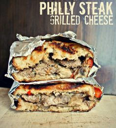 Philly Steak Grilled Cheese (on the grill!) by Killing Tyme - looks amazing and a perfect make ahead meal for camping!