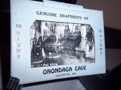 Onondaga Cave Leasburg Missouri 10 Snapshots Souvenir Vintage Postcards 1940's