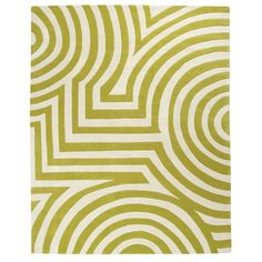 FREE GROUND SHIPPING ON AREA RUGS SIZES 9x12 AND SMALLER A bold geometric design of subtle, purposeful motion and strong, present color. Product: Area Rug Mate