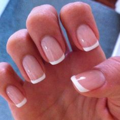 French manicure gel nails, french tip pedicure, natural french manicure, na Love Nails, Pretty Nails, Fun Nails, French Manicure Acrylic Nails, Nail Manicure, French Pedicure, Manicure Ideas, Colorful French Manicure, Nude Nails