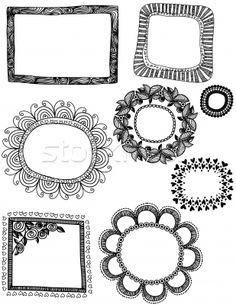 detailed doodle frames