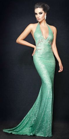 Camille Flawless sea green dress