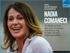 """""""It's a great source of pride,"""" Comaneci said, """"because gymnastics will henceforth be connected with the Olympic Stadium and city of Montreal"""" Nadia Comaneci 1976, Little Miss Perfect, 14 Year Old Girl, Sport Gymnastics, Sports Stars, Local News, The Girl Who, Role Models, Montreal"""