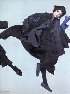Comme des Garçons Dress, photographed by Steven Meisel for Vogue US, 1983