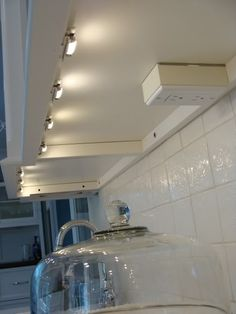 mounted under cabinet outlet and lighting Kitchen Redo, Kitchen Remodel, Kitchen Ideas, Big Kitchen, Under Cabinet Outlets, Installing Under Cabinet Lighting, Kitchen Outlets, Kitchen Lighting Design, Kabine