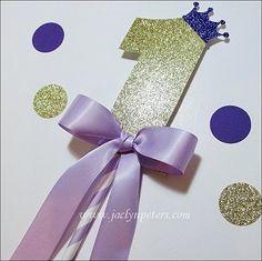 #Purple #Princess  #First #Birthday Smash #Cake #Topper