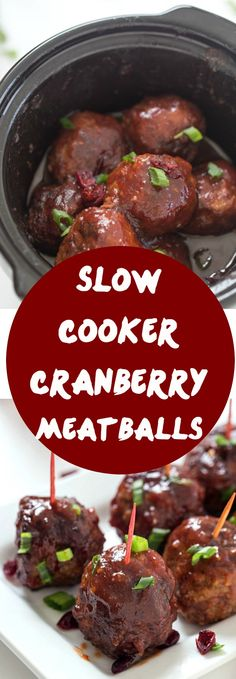 Slow Cooker Cranberry Meatballs - The perfect appetizer for the holidays! So good, they will be gone before you know it!