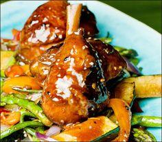 Kyllinglår i soya med sesam