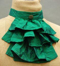 Elegant steampunk Victorian inspired jade green silk by FrockTarts, $45.00