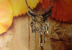 steam punk key necklace