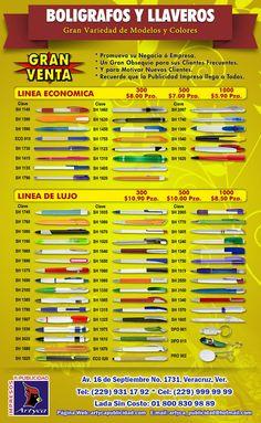 flyer boligrafos y llaveros promoop 2015