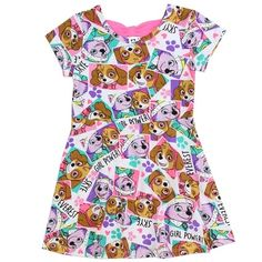 Nick Jr Paw Patrol Girl Power Everest And Skye Toddler Knit Dress Nick Jr Paw Patrol, Paw Patrol Party, Paw Patrol Dress, Pink Nightgown, 3rd Birthday, Birthday Wishes, Birthday Stuff, Toddler Dress, Kids Wear