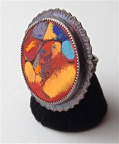 Julie Shaw- sterling silver and enamel ring at Good Goods in Saugatuck. goodgoods.com