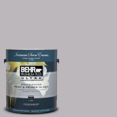 BEHR Premium Plus Ultra #UL250-15 French Lilac Interior Satin Gallon Paint $32.98: Need to try this for laundry and pantry. The Grey Heather was just too dark.