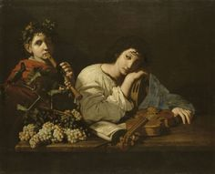 The Sorrows of Aminta (c.1625). Bartolomeo Cavarozzi (Italian, 1587-1625). Oil on canvas. Musée du Louvre.