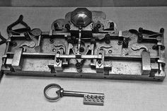 A lock and key from Rothenburg, Germany.