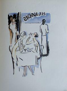 """Illustration de Kees van Dongen pour Victor Margueritte, """"La Garçonne,"""" Paris, Flammarion, 1926."""