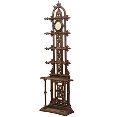 Victorian Cast Iron Hall Stand, Coat Stand