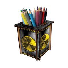 Porta Canetas Radiação - StickDecor | Decoração Criativa