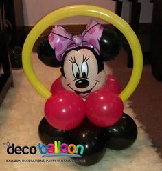95. Minnie Mouse Balloon Centerpiece Base