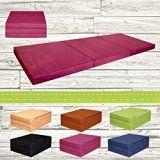 Matelas d'appoint pliant lit d'appoint lit d'invité futon pouf 195x80x9 cm couleur violet