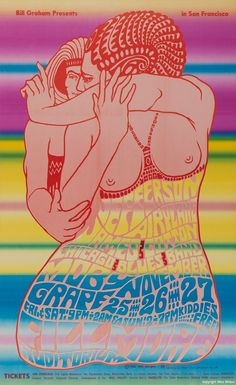 Jefferson Airplane, James Cotton Chicago Blues Band, Moby Grape - by Wes Wilson