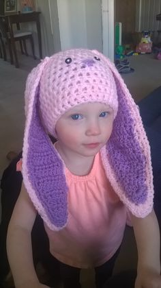 Camryn's Easter bunny hat