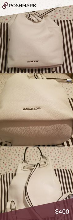 NWT Michael kors  leather back pack NWT Michael kors Dalia LARGE leather backpack, soft leather, MK Engraved on the ends , compartment inside of the bag, My price is FIRM on this bag. Comes with a MK  dust bag. I WILL ONLY TRADE THIS BAG FOR A NEW BAG !!!! Michael Kors Bags Backpacks