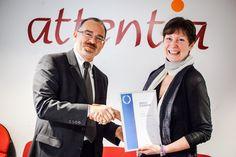 Attentia receive their IIP award with IIP Belgium #iip2013