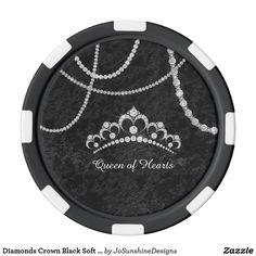 Shop Diamonds Crown Black Soft Velvet Poker Chip created by JoSunshineDesigns. Diamond Crown, Wedding Supplies, Poker, Mall, My Etsy Shop, Wedding Day, Stationery, Diamonds, Velvet