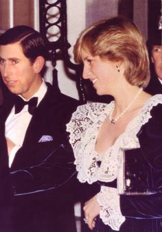 February 2, 1982: Prince Charles Princess Diana at a British Film Institute dinner at 11 Downing Street, the Chancellor of the Exchequer's official residence, London.