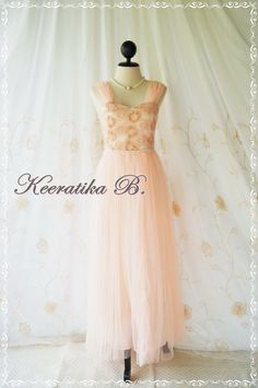 Cinderella Night  Sweet Peach Dress by LovelyMelodyClothing, $78.90