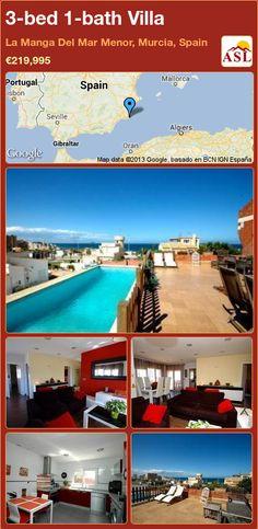 3-bed 1-bath Villa in La Manga Del Mar Menor, Murcia, Spain ►€219,995 #PropertyForSaleInSpain