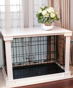 Another Great Find On #zulily! White Cage U0026 Crate Cover #zulilyfinds · Pet  CratesDog StuffDog Crate End TableDog ...