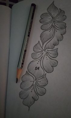 40 Easy Flower Pencil Drawings For Inspiration Mehndi Designs Book, Full Hand Mehndi Designs, Mehndi Designs For Girls, Mehndi Designs For Beginners, Stylish Mehndi Designs, Dulhan Mehndi Designs, Mehndi Design Pictures, Mehndi Designs For Fingers, Beautiful Mehndi Design