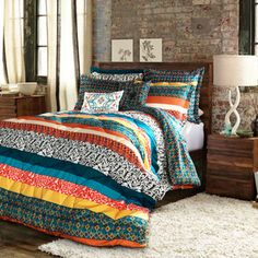 Lush Decor Boho Stripe 7-piece Comforter Set - Overstock™ Shopping - Great Deals on Lush Decor Comforter Sets