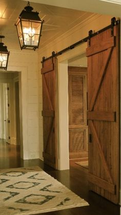 Barn doors...modern and classic all at once