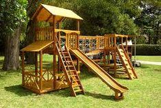 Resultado de imagem para juegos infantiles de madera para jardin ...
