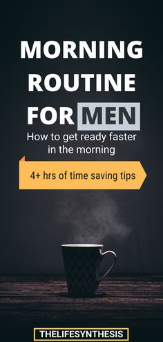 Men's Morning Routine: How to Get Ready Faster Haste Makes Waste, Productive Things To Do, Evening Routine, Morning Habits, Bedtime Routine, Get Ready, Successful People, Healthy Habits, Forget