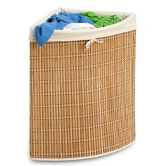 Space-saving hamper keeps the smallest room tidy.  Brookstone.