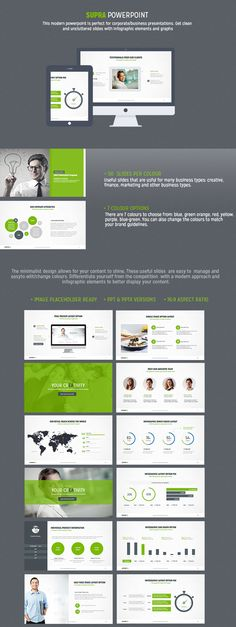 Modern Powerpoint by Design District, via Behance