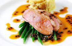 Gressingham Duck Breast With Passion Fruit Sauce by Marcello Tully