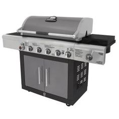 Brinkmann, 6-Burner Dual Fuel Gas Grill, 810-6680-S at The Home Depot - Mobile