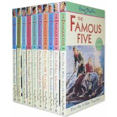 The Famous Five by Enid Blyton. Can't put the individual ones of these in my board, just too many. There are 21 books and I loved reading them all!