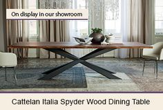 Cattelan Italia Spyder Dining Table with Anna Dining Chairs