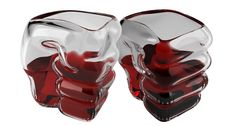 Slammers Shot Glasses - 3 x Glass Fist - Shaped Shot Glasses  Not dishwasher safe!
