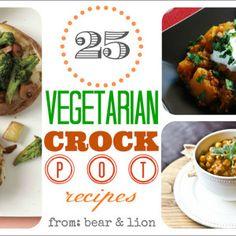 vegetarian crock pot recipe round-up!